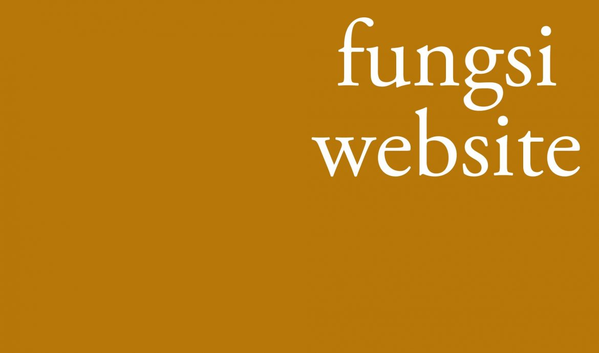 fungsi website